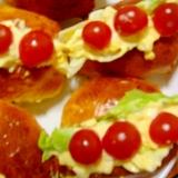 ホームベーカリーで♪春の行楽に♪卵のドックパン