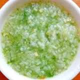 離乳食後期 高野豆腐&玉ねぎキャベ&青海苔入り雑炊