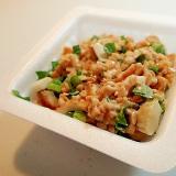 竹輪と小松菜と白ごまのひきわり納豆