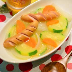 ウエイパーで簡単!ズッキーニとウインナーのスープ