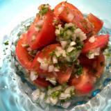 冷やして食べて!フレッシュパセリとトマトのマリネ
