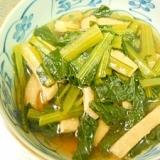 母の好きな小松菜の炊いたん