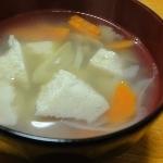 高野豆腐がとろけるスープ