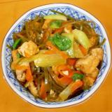 青梗菜・厚揚げ・昆布の煮物