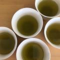 深蒸し茶を同じ濃さにおいしく3杯。