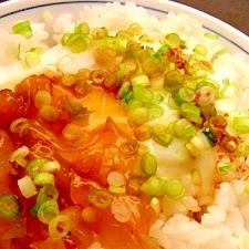 温たま&中華クラゲで♪のっけ丼
