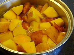 簡単!離乳食♡安納芋のシロップ煮