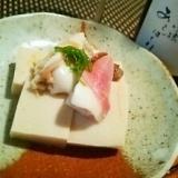 じんわり美味しい、北寄貝と高野豆腐の炊き物
