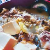 牛豆腐の味噌鍋