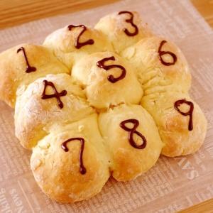 ホットケーキミックスで簡単豆乳ちぎりパン☆チョコ入