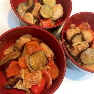 リピート必須☆茄子と鶏肉団子の甘辛味噌炒め