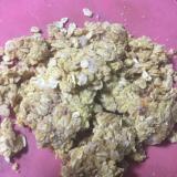 完熟柿でオートミールとおからのクッキー風