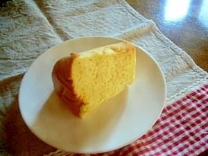 ノンオイルヘルシー強力粉でプレーンシフォンケーキ