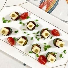 胡瓜とキューブチーズのミニオードブル