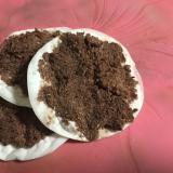 餃子の皮でおからとココアのソフトクッキー風