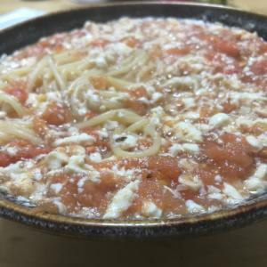 意外と美味い、トマト豆腐パスタ