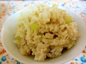 蕗の塩炒め混ぜご飯