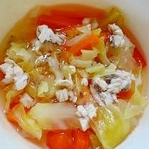 いろどり野菜とぶりのスープ(離乳食後期)