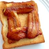 至福の朝食♡キャラメルバナナトースト