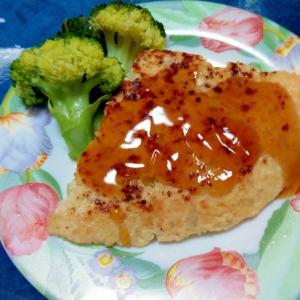 鶏むね肉の挽肉と豆腐のハンバーグ