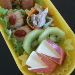 ミニかわ(о´∀`о)りんごのウサギちゃんお弁当