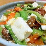 手抜き☆レトルト肉団子と豆腐の中華風炒め