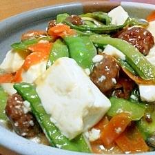 肉団子と豆腐の中華風炒め