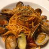 ナポリタン+あさりのスパゲティ