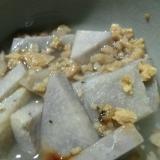大豆ミートと里芋の塩あんかけ