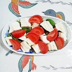 塩とうふのサラダ