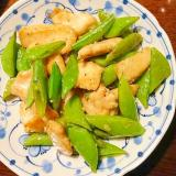豚肉とスナップエンドウの炒め物