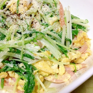 水菜のホットサラダ
