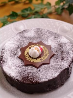 ガトー・オ・ショコラのクリスマスケーキ