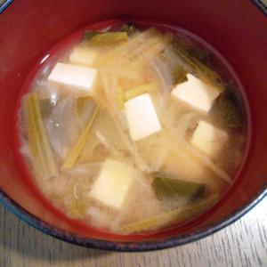 豆腐&切り干し大根&野菜のお味噌汁