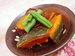 お婆ちゃんの味✿薩摩芋と南瓜のホッコリ煮