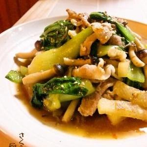 チンゲン菜と大根のおかずナムル