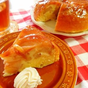 シロップ&ナパージュで♪アップルケーキ
