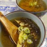 もずく竹の子味噌汁
