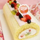 母の日にも♪フルーツロールケーキ