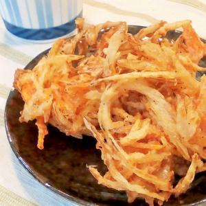 3,2,1でサックサク♡うちの天ぷら,かき揚げの衣