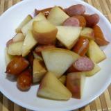 桃とウインナー炒め