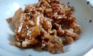 甘辛の味が御飯に合います、豚肉の生姜入り佃煮~♪