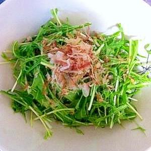 ★超速(2分)×極旨★水菜のシャキシャキサラダ