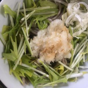 水菜のおろし釜揚げ蕎麦