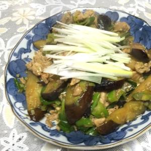 長ネギ丸ごと1本☆茄子と豚肉のオイスターソース炒め