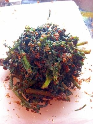 冷凍春菊の胡麻&フラックスシード和え