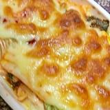 豆腐とキムチのチーズ焼き