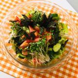 亜麻仁油と黒酢の健康サラダ