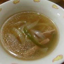 ベーコン入り中華スープ
