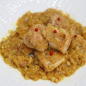 超ヘルシー!! 鶏肉の白ワイン煮・粒マスタード風味